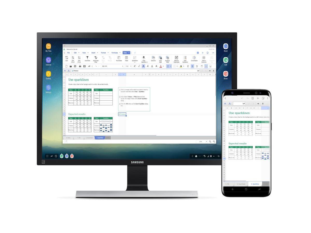 Hancom Office unterstützt Samsung DeX