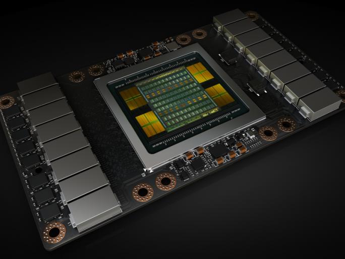 Grafikbeschleuniger Tesla V100 mit GPU Volta GV100 (Bild: Nvidia)