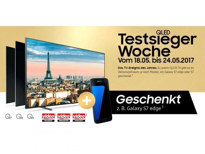 Samsung QLED TV-Käufer erhalten Galaxy S7 oder S7 edge gratis (Screenshot: ZDNet.de)