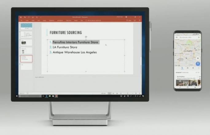 Die Zwischenablage verbindet Windows 10 und Mobilgeräte (Screenshot: Scott Stein / CNET.com).