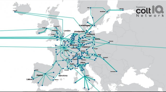 Das Colt IQ Network in Europa (Screenshot: ZDNet.de)