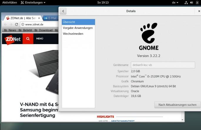 Debian 9 Stretch (Bild: ZDNet.de)