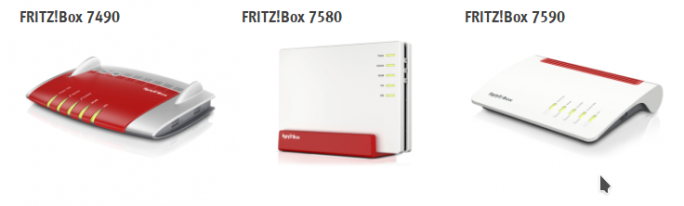 Fritzbox-Modelle mit MESH-Support (Screenshot: ZDNet.de)