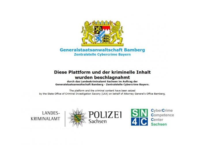 Besucher der Website LuL.to sehen seit gestern diese Hinweis der Behörden auf die Schließung des Portals (Screenshot: silicon.de)