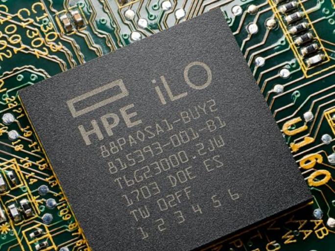 Ein unveränderbarer Fingerabdruck verankert die Sicherheit im iLO-Chip (Bild: HPE)
