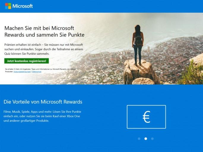 Microsoft Rewards jetzt auch in Deutschland verfügbar (Bild: ZDNet.de)