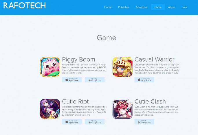 Nach den aktuellen Erkenntnissen der Sicherheitsforscher von Check Point sind auch die von Rafotech angebotenen Spiele Piggy Boom, Casual Warrior, Cutie Riot und Cutie Clash mit Vorsciht zu genießen (Screenshot: silicon.de)