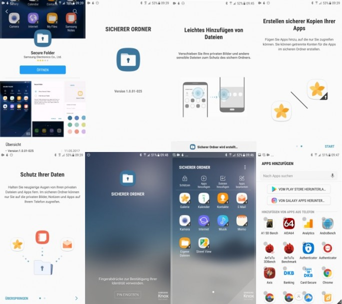 Samsung Secure Folder 2017 (Screenshot: ZDNet.de)
