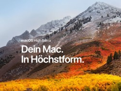 macOS High Sierra (Bild: Apple)