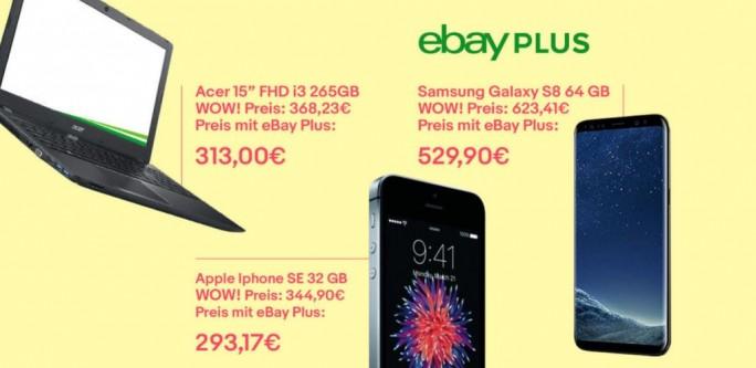 Ebay-Plus-Angebote (Screenshot: ZDNet.de)