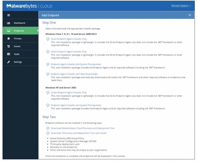 Die Endpunkte werden in der Weboberfläche von Malwarebytes Endpoint-Cloud-Plattform zentral verwaltet (Screenshot: Malwarebytes).