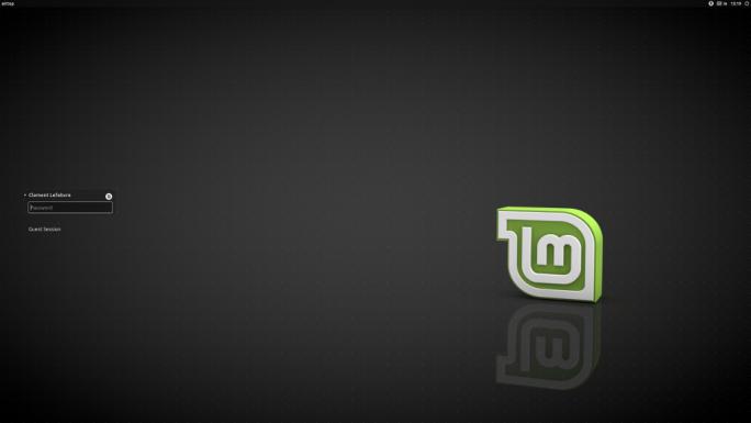 Linux Mint 18.2 Xfce kommt mit einem neuen Anmeldebildschirm (Screenshot: Linux Mint).