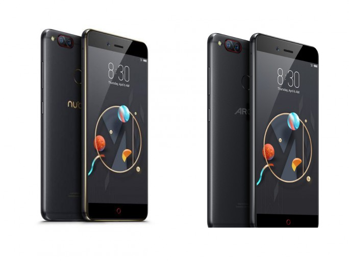 Nubia z17 Mini (links) und Archos Diamond Alpha (rechts)
