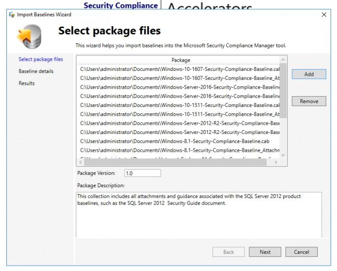 Neue Baslines werden in SCM importiert (Screenshot: Thomas Joos).
