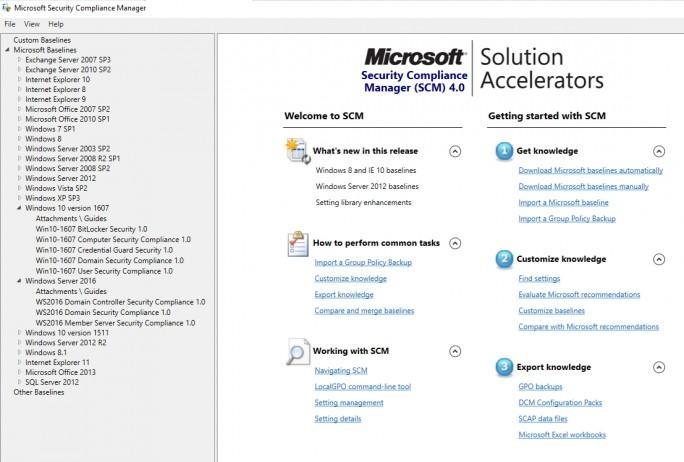SCM 4.0 zeigt die neuen unterstützten Systeme an, die sich absichern lassen (Screenshot: Thomas Joos).
