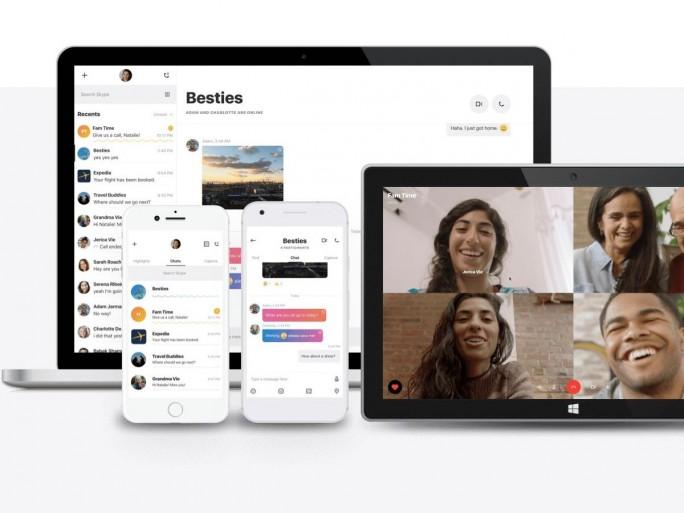 Skype bietet den neuen Client anfänglich nur für Android an. In den kommenden Wochen und Monaten sollen Versionen für iOS, Windows und macOS folgen (Bild: Skype).