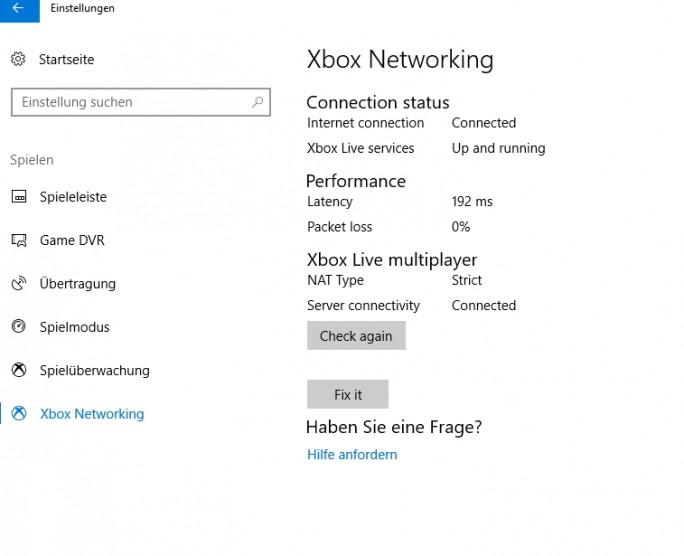 Die Gaming-Einstellungen werden in Windows 10 ständig erweitert (Screenshot: Thomas Joos).