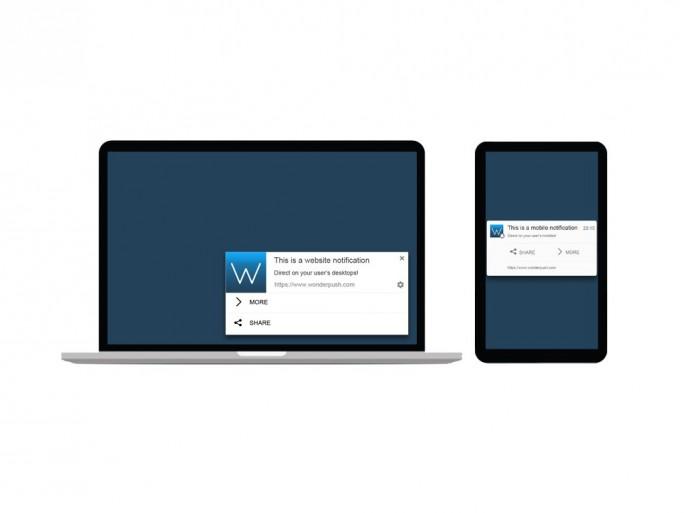 Web-Push-Benachrichtigungen (Bild: Wonderpush)