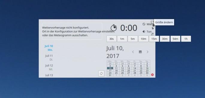 Event Calendar Größe anpassen (Screenshot: ZDNet.de)
