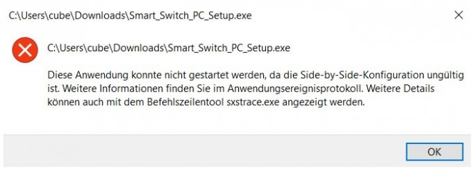 Fehler Smart Switch: Side-by-Side-Konfiguration (Bild: ZDNet.de)