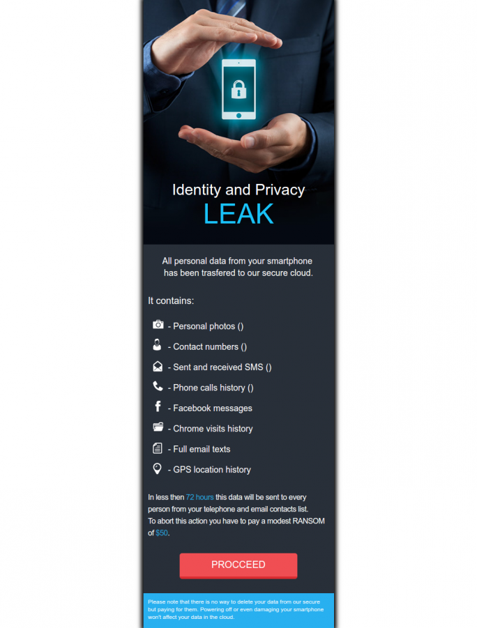 LeakerLocker sperrt den Homescreen ( Screenshot McAfee)