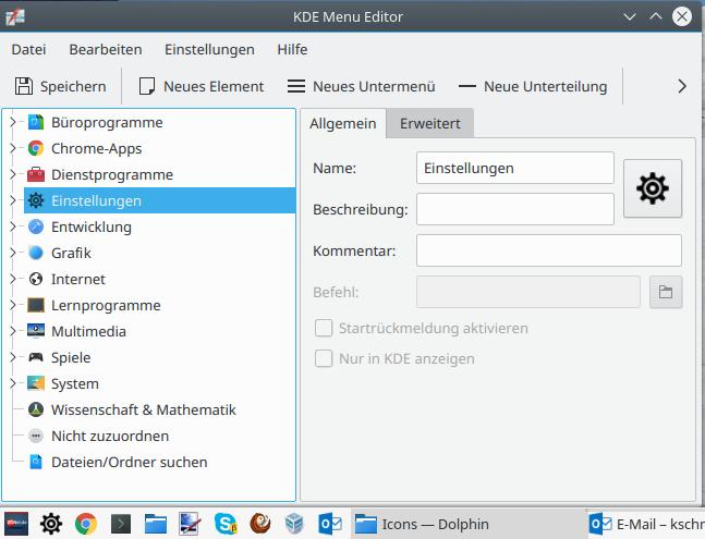 Angepasste Symbol erscheinen nach einem Neustart (Bild: ZDNet.de)