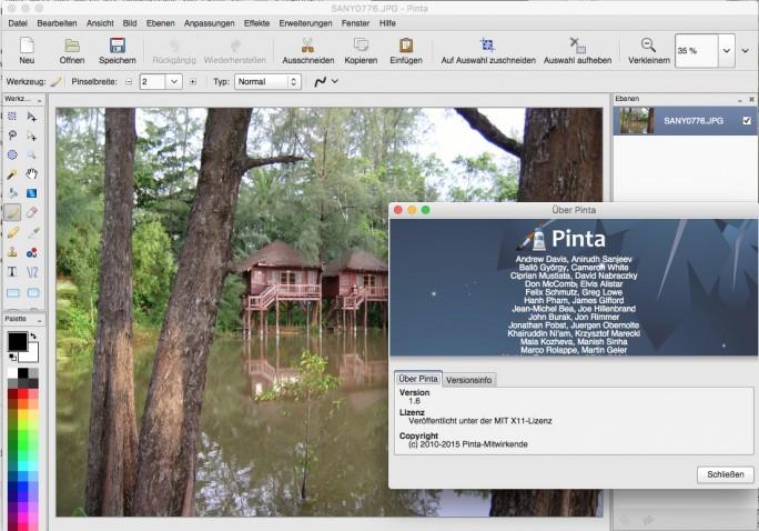 Pinta basiert auf Paint.Net (Bild: ZDNet.de)