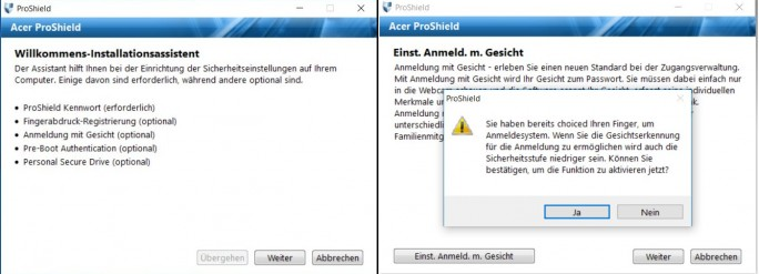 ProShield (Screenshot: ZDNet.de)