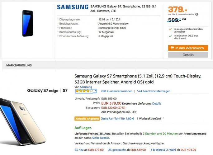 Samsung Galaxy S7 für 379 Euro (Bild: ZDNet.de)
