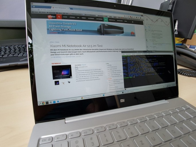 Xiaomi Mi Notebook Air 12.5 Linux (Bild: ZDNet.de)
