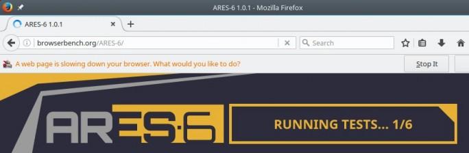 Firefox 55: ARES-6-Warnung (Bild: ZDNet.de)