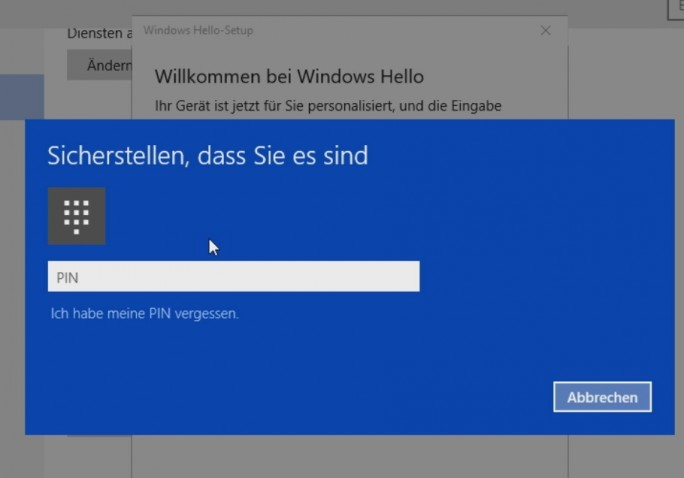 Windows Hello wird über einen Assistenten eingerichtet (Screenshot: Thomas Joos).