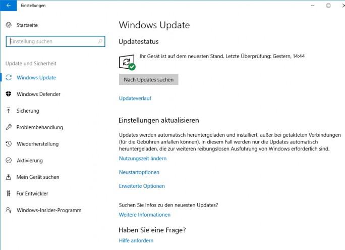 Wurden die neusten Updates auf Windows-Rechnern installiert, lassen sich diese deutlich sicherer betreiben (Screenshot: Thomas Joos).