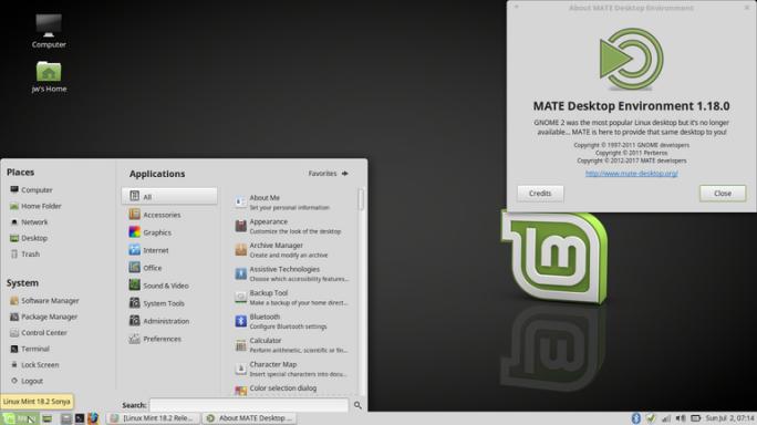 Linux Mint 18.2 MATE (Screenshot: J. A. Watson / ZDNet.com)