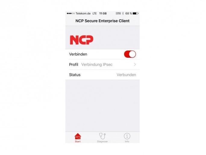 NCP iOS VPN Client (Bild: NCP)