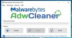 ADWCleaner von Malwarebytes entfern Angreifer ebenfalls ohne Installation (Screenshot: Thomas Joos).