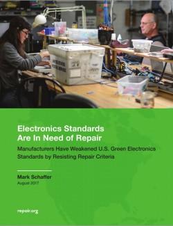 Bericht zu Problemen in Standardisierungsgremien für grüne Standars (Bild: Repair.org)
