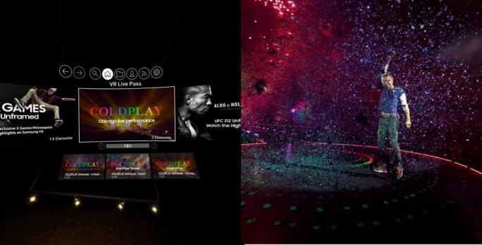 Coldplay-Konzert steht als VR-Version zur Verfügung (Bild: ZDNet.de)