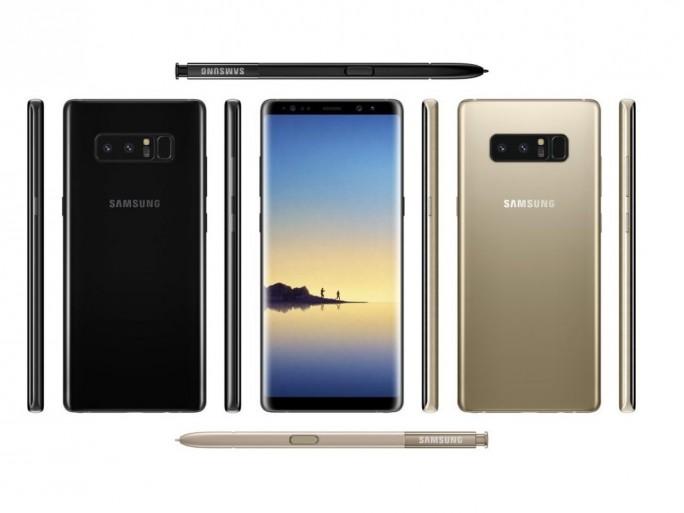 Galaxy Note 8: Schwarz und Gold (Bild: Samsung)