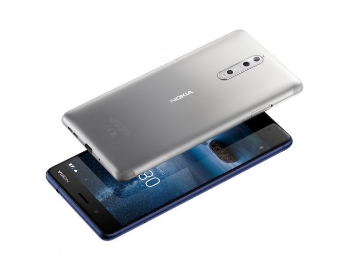 Das Nokia 8 kommt mit leicht abgerundeten Displaykanten - sogenanntem 2,5 D Glass  (Bild: HMD Global)