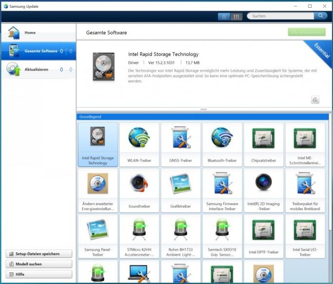 Samsung Galaxy Book LTE: Treiber (Bild: ZDNet.de)