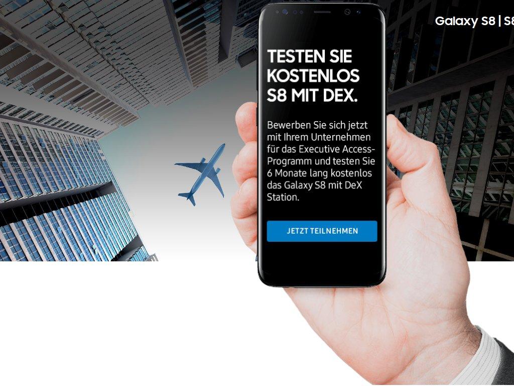 Galaxy S8 mit DeX: Samsung verlost 20 Testgeräte für Unternehmen
