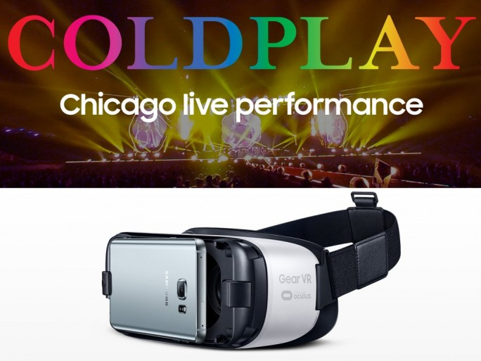 Samsung GearVR: Coldplay-Konzert in Chicago 2017 (Bild: ZDNet.de)