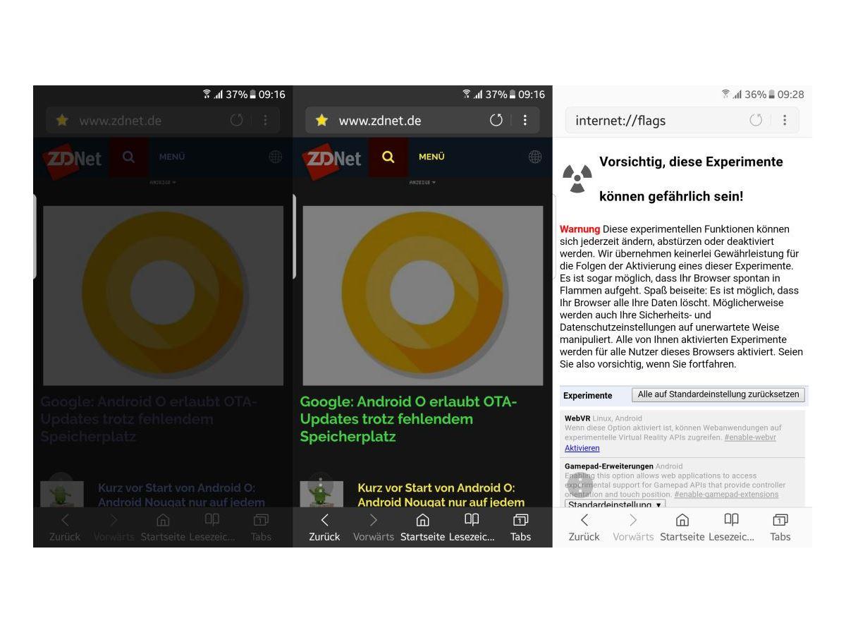 browser smartphone aktualisieren