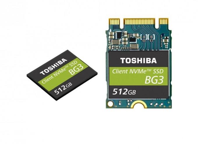 Die Toshiba BG3 ist als BGA-Modul und im Formfaktor M.2 erhältlich (Bild: Toshiba).