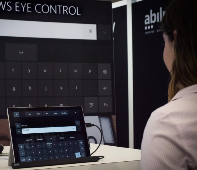 Microsoft hat auf seinem diesjährigen Hackathon die neue Windows-10-Funktion Eye Control demonstriert (Bild: Microsoft).