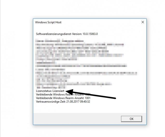 Die Gültigkeit der eigenen Windows-Lizenz lässt sich schnell und einfach überprüfen (Screenshot: Thomas Joos).