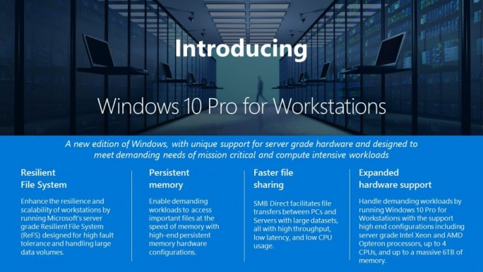 Windows 10 Pro for Workstation (Bild: Microsoft)