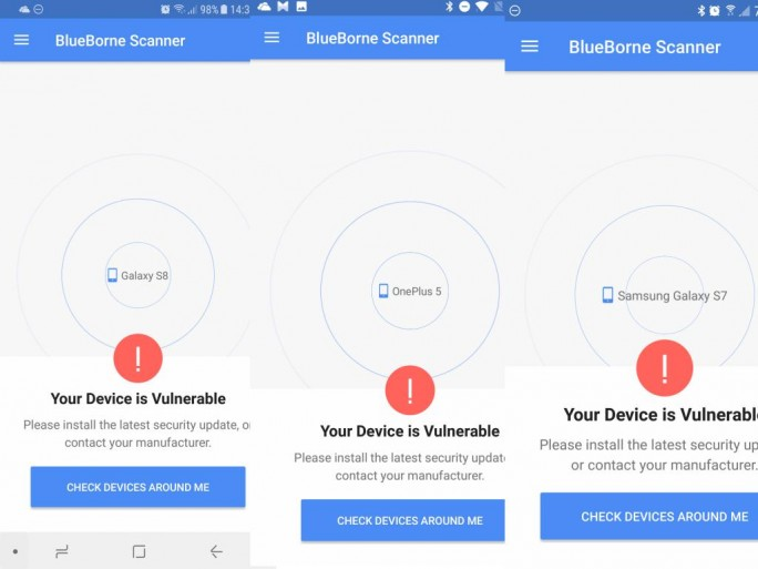 Bluetooth-BlueBorne-Android (Screenshot:ZDNet.de)