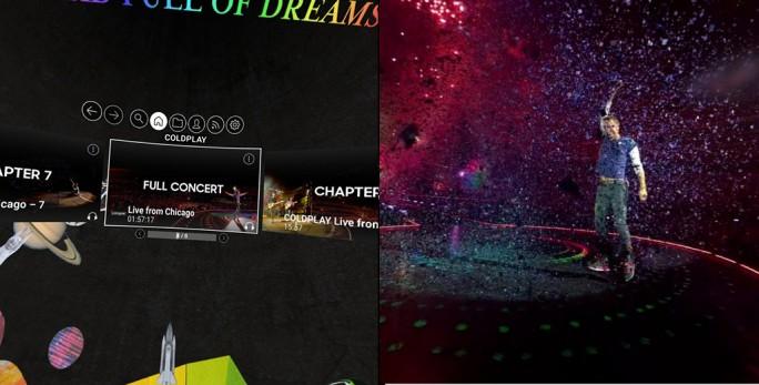 GearVR: Coldplay-Konzert steht in voller Länger zur Verfügung (Screenshot: ZDNet.de)